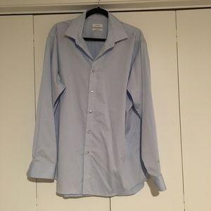 Calvin Klein Blue Button Up Dress Shirt